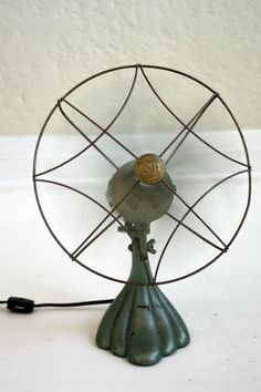 fans! a cool vintage fan adds character and can serve as a functional piece. #industrial, #metal, #home