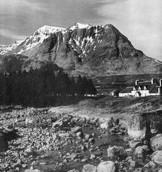Tour Scotland Photographs: Old Photograph Kingshouse Hotel Glencoe Scotland