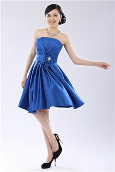 Gorgeous A-Line Mini Strapless Prom/Homecoming Dress