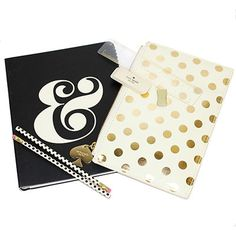 Kate Spade New York Notebook and Pencil Pouch Gift Set KSPNOTESET