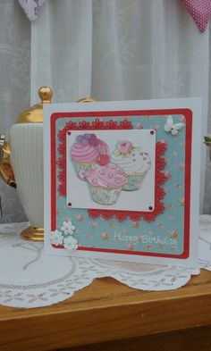 Cupcake boutique baking themed greeting card dovecrafts collection docrafts cupcake boutique m4hsunfo Gallery