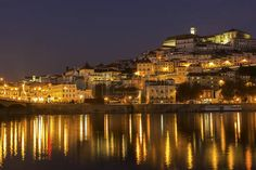 coimbra: Coimbra by Mondego river in Portugal
