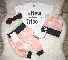 New to the Crew Coming Home Baby Girl Outfit Newborn Baby Girl Outfit Deer Outfit Girl Deer Pink Grey Leggings Baby Shower Gift by LLPreciousCreations on Etsy https://www.etsy.com/listing/590860072/new-to-the-crew-coming-home-baby-girl