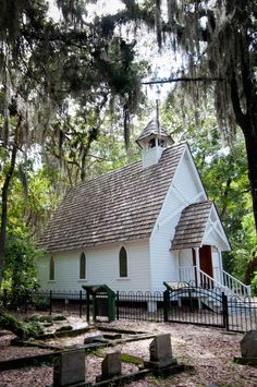 Sarasota historical attraction, Mary's Chapel at Historic Spanish Point, Osprey, Florida, USA. Photo by Debi Pittman Wilkey.