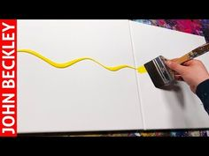 Abstract Painting With Acrylics | Dahlia - YouTube