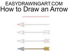 arrow drawing draw easy step easydrawingart drawings