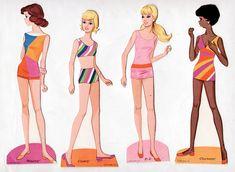 1971 Whitman WORLD OF BARBIE – Barbie, P.J., Stacey, Christie ...