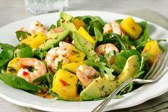 Prawn, mango and avocado salad