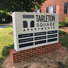 The new sign at Tarleton Square Lynn Smith, New Sign, Apartments, Luxury Apartments, Penthouses, Flats