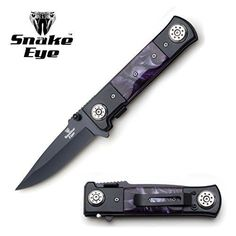 Snake Eye Tactical Heavy Duty Two Tone Handle Pearl Design Spring Assist Folding Knife Hunting Camping Fishing Outdoors Lightning Fast Deployment – Razor Sharp Blade (Purple) Tactical Pocket Knife, Tactical Knives, Boot Knife, Snake Eyes, Pearl Design, Fish Camp, Knife Sets, Folding Knives, Blade