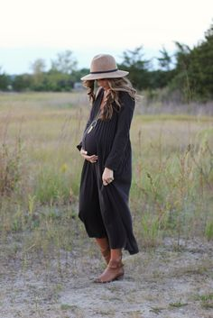 Fall maternity fashion with @freepeople featuring Free People Sophie Maxi dress #spon