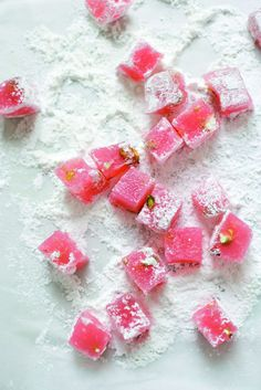 Turkish Delight recipe. I dreamed about this stuff after watching the 80s animated version of The Lion, The Witch & The Wardrobe.