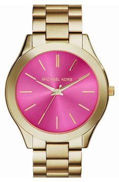 Nordstrom  Michael Kors 'Slim Runway' Bracelet Watch, 42mm