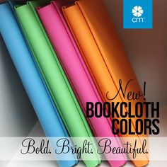 Bold. Bright. Beautiful. The new Creative memories bookcloth albums are available in Fuschia, orange, spring green, and ocean blue. Click image to purchase.