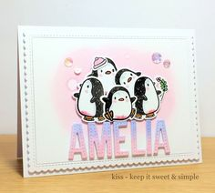 AMELIA : using Mama Elephant, Arctic Penguins, by KISS-keepitsweetandsimple