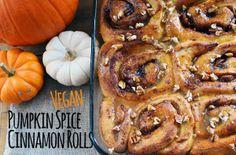 Brunch recipe vegan pumpkin spice cinnamon rolls