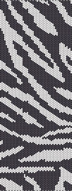 Zebra Peyote Cuff Beaded Bracelet Pattern by RubyDsArtandJewelry, $6.99