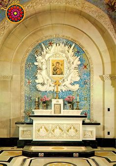 The chapel of Our Lady of Perpetual Help in the basilica of Sainte-Anne-de-Beaupré in Quebec, Canada.