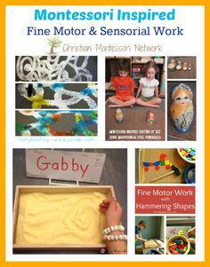 Enjoy a collection of Montessori inspired fine motor and sensory work. Also, please join our Thursday Learn & Play link up! - www.christianmontessorinetwork.com