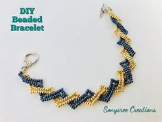 Beaded Bracelet using only seed beads - YouTube