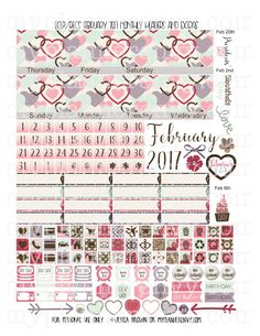 February 2017 Monthly Headers and Extras | My Planner Envy