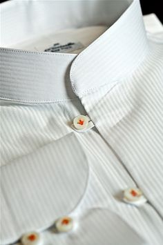 Tailor Made Shirt, Popeline fabric, Color white, Model of the neck Thay -  $159 Shirt Collar Styles, Banded Collar Shirts, Mens Designer Shirts, Designer Suits For Men, Tailored Shirts, Casual Shirts, Tailor Made Shirts, Nigerian Men Fashion, Bespoke Shirts
