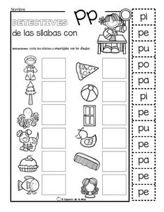 SUPER CUADERNO EL DETECTIVE DE LAS SÍLABAS – Imagenes Educativas Pre K Activities, Preschool Learning Activities, Letter Activities, Toddler Learning, Preschool Spanish, Teaching Spanish, Coloring Worksheets For Kindergarten, Dual Language Classroom, I School