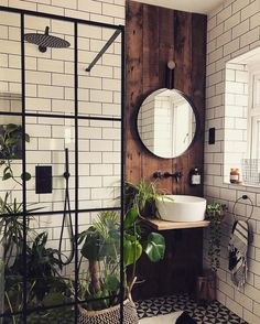 bohemian Bathroom Decor Trendy Bohemian Bathroom D - bathroomdecor Bad Inspiration, Bathroom Inspiration, Interior Inspiration, Bathroom Inspo, Bathroom Interior Design, Interior Decorating, New Bathroom Designs, Scandinavian Interior Design, Interior Livingroom