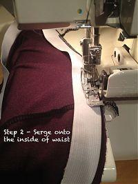 A better elastic waistband finish – tutorial – FehrTrade