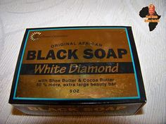 No woman on earth has tried this wonderful soap and not LOVED IT! Present your favorite lady with the energetic aroma of Black Soap White Diamond. $3.98. http://blackqueenafricanproducts.com/store
