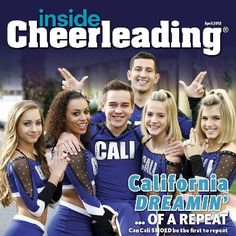 The April 2013 cover for Inside Cheerleading: Cali Smoed