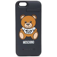 Moschino Teddy Bear Iphone 6/6s Rubber Battery Case ($100) ❤ liked on Polyvore featuring accessories, tech accessories, multicolor and moschino