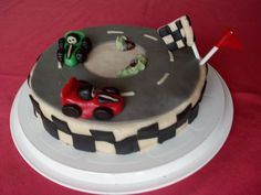 gokart birthday cake