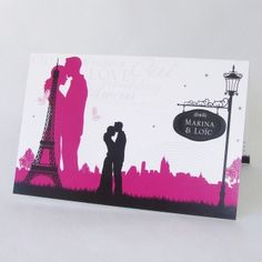 "Faire-part de mariage ""Love in the city"" Paris Tour Eiffel FM03-ROM-14"