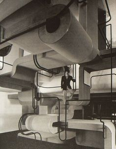1971 NYC Faberge Interior Stairwell Office 1970s New York City by Christian Montone, via Flickr
