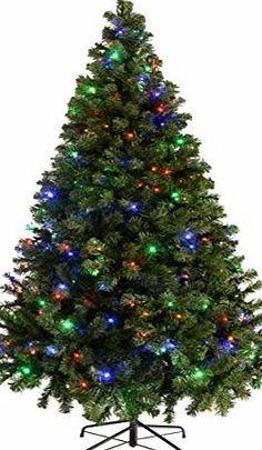 werchristmas pre lit spruce multi function christmas tree with 200 led lights - Christmas Tree With Pine Cones