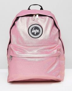 Hype Metallic Pink Pearl Effect Backpack