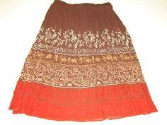 new ALFRED DUNNER womens Brown Rust Career Skirt Size 16 Very Pretty #AlfredDunner #Pleated #Career