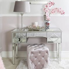 A feast for the eyes the Arabian collection from UniqueChic Furniture transforms bedrooms and living rooms into lavish luxury havens steeped in Decor, Silver Vanity, Drawer Design, Mirrored Furniture, Vanity Decor, Mirrored Bedroom Furniture, Luxury Mirror, Dressing Mirror, Mirror
