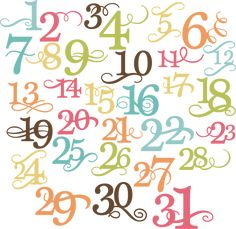 Numbers Of The Month SVG cut files for scrapbooking free svg cut files free svg files
