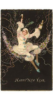 Happy New Year, a vintage greeting card