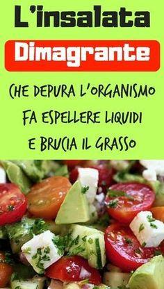 L'insalata dimagrante che depura l'organismo, fa espellere liquidi e brucia il grasso