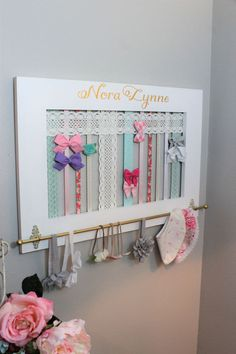 Frame Bow Holder Hair bow holder Headband by SouthernPlankCrafts