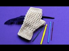 Heklane rukavice bez prstiju (Crochet Fingerless Gloves) - YouTube