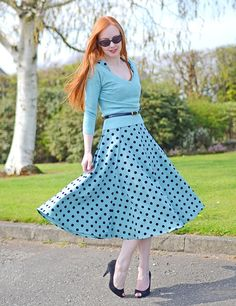 polka dots skirt 2017 with sweater