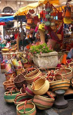 Apt market Luberon, France