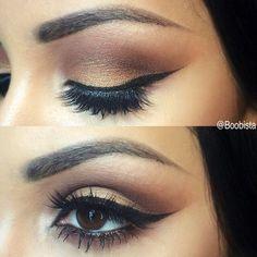 elongated winged eyeliner:
