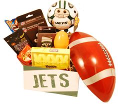 new york jets easter basket a fun basket to send for young grid iron fans 4899 new york jets christmas gift