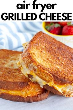 Toaster Oven Recipes, Air Fryer Oven Recipes, Air Frier Recipes, Air Fryer Dinner Recipes, Perfect Grilled Cheese, Making Grilled Cheese, Grill Cheese Sandwich Recipes, Air Fryer Recipes Grilled Cheese, Steak Sandwiches