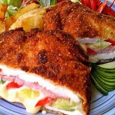 Hungarian Recipes, Chicken Wraps, Garlic Bread, Tandoori Chicken, Bon Appetit, Poultry, Main Dishes, Bacon, Sandwiches